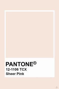Pantone Sheer Pink