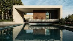 The Sohanak Swimming Pool and Spa by Kourosh Rafiey: Nestled in a private garden atop a small hill in Tehran, Iran sits the Sohanak swimming pool and Modern Landscape Design, Landscape Architecture Design, Modern Landscaping, Modern Architecture, Urban Landscape, Glasgow, Architectural Design Studio, Architectural Firm, Teheran