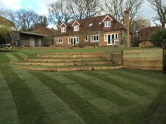 Tiered Lawn Area.
