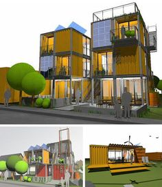 10 (More) Awesome Architectural Shipping Container Designs: From Loft Spaces to Emergency Housing