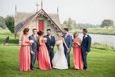 A Chic Coral Wedding at Carton House by Michelle Prunty Photography | weddingsonline