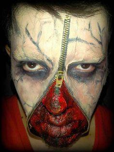 #Halloween #makeup #Effect #FX #Zipper #ART