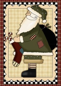 Country Santas - Mini Sets - Machine Embroidery Patterns