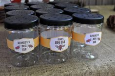 Bug catching jars (for plastic and candy bugs