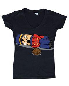 Tchaikovsky Nutcracker Christmas Womens V-Neck T-shirt #17500 Funny Xmas Shirts