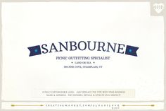 Check out Sanbourne: A Nautical Logo by A Logo I Love on Creative Market