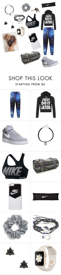 """""""Workout Outfit!"""" by beautydiva13 ❤ liked on Polyvore featuring WearAll, NIKE, Vanessa Mooney and Natasha Couture"""