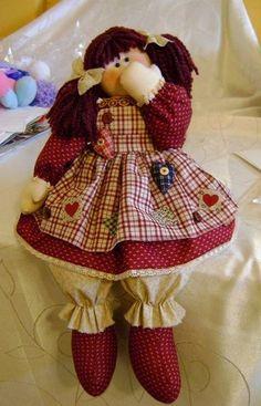 Muñeca en paño lenci