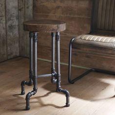 industrial steel pipe stool by brush64 | notonthehighstreet.com