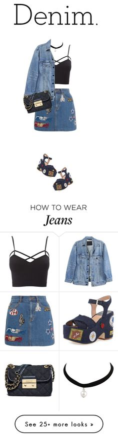 """""""Untitled #219"""" by caramel-macarons on Polyvore featuring Charlotte Russe, Marc Jacobs, Laurence Dacade, Y/Project, MICHAEL Michael Kors and Denimondenim"""