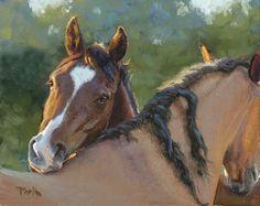 Back Scratchers by carol peek Oil ~ 8 x 10
