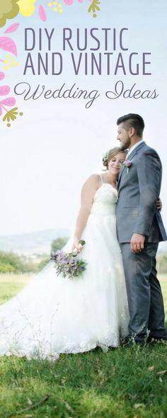Lavender Rustic And Vintage   Simple and Elegant DIY Wedding Ideas - Inspired Bride
