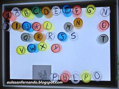Componemos palabras con nuestros vasos de letras y la mesa de luz Reggio Emilia, Lead Boxes, Classroom Projects, Preschool Lessons, Alphabet Activities, Light Table, Literacy, Crafts For Kids, Education