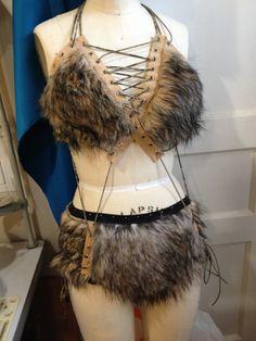 Costume Flinstones Cave Woman Viking by SparklePonyDancewear