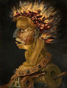 Giuseppe Arcimboldo - Fire - From the Four Elements 1566 Kunsthistorisches Museum GG 1585 Giuseppe Arcimboldo, Minneapolis, Portrait Sculpture, Modern Painting, Charles Frederick Worth, Kunsthistorisches Museum Wien, Ouvrages D'art, Italian Painters, Salvador Dali