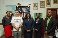 Flying Doctor of America Medical Mission – DPI | Department of Public Information From left to right- Dr. Ineka McKenzie, Deputy Director- Regional Health Services; Dr John Arledge, Chief Medical Officer of the Flying Doctors of America; Dr. Karen Cummings, Minister within the Ministry of Public Health, Dr Karen Boyle, Deputy Chief Medical Officer and Denroy Tudor, Coordinator- International Desk.