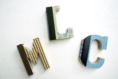 Indulge your inner book nerd with a set of DIY book letters!