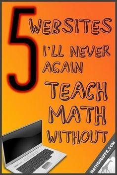 5 great websites to help teach maths!