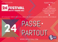 This was a Tag/ Pass for 24 Festival in The Netherlands. Each year the Festival celebrates the very best in advertising. I augmented the pass, to see the augments, simply download the Blippar App and scan the image.