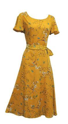 Dress – Cheap Retro Wartime Vintage Style Floral Tea Dress Vintage is not as … Women's Dresses, Trendy Dresses, Cheap Dresses, Cotton Dresses, Casual Dresses, 1940s Fashion Dresses, 1940s Dresses, Fashion Outfits, 1940's Fashion