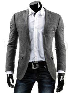 Pánské stylové sako - Manolo, šedé Casual Attire, Grey Blazers, Suit Jacket, Mens Fashion, Suits, Jackets, Men's Fashion Styles, Moda Masculina, Down Jackets