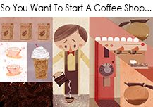 Have you thought about opening your own coffee shop? Then KaTom has some tips on how to get started! Starting A Coffee Shop, Opening A Coffee Shop, My Coffee Shop, Coffee Lovers, Coffee Carts, Coffee Drinks, Coffee Pods, Coffee Beans, Coffee Shop Business Plan