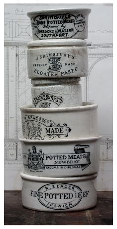 Vintage English crockery make beautiful planters for forcing Hyacinth and or Narcissus bulbs indoors to show off at holiday time.  How to Force Cold-Hardy Bulbs: http://www.whiteflowerfarm.com/forcinghardybulbs.html?utm_source=rkgkeywords_medium=ppc_campaign=20120730_term=forcing+hyacinth+bulbs=10943297241#