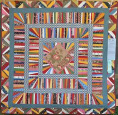 Wonkyworld: Mom was REALLY surprised! Quilt by Gwen Marsdon, Sisters, Oregon quilt show.