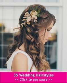 35 Wedding Hairstyles: Discover Next Year's Top Trends for Brides 2015 #Hairstyles #Haircuts #ShortHairstyles