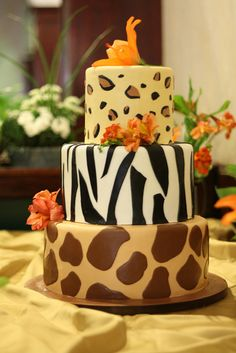 safari cake - Google Search. Something like this except individual cakes instead of stacked