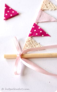 Bunting banners for a cakes, but what else would it be good for?  By Hot Polka Dot.