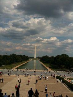 reflection pool & Washington Memorial  DC