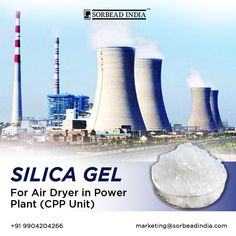"""""""Swambe Chemicals"""" is a top manufacturing company of silica gel. In power plants, silica gel is used to absorb moisture from air depending on the pressure. The intensity of the air-drying process depends upon the partial pressure of saturated water vapor above the surface Contact us: www.swambe.com marketing@sorbeadindia.com +91 9904204266 #pharmaceuticals #powerplant #biotech #petrochemical #electronics #circuitboards #batteries Silica Gel Uses, Thin Layer Chromatography, Chemical Industry, Marine Biology, Medicinal Plants, Life Science, Moisturizer, Surface, The Unit"""