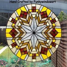 Frank Lloyd Wright Style Mandala Static Window Cling