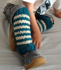Chunky Striped Knit Toddler/Baby wool leg by SplatAndCo on Etsy