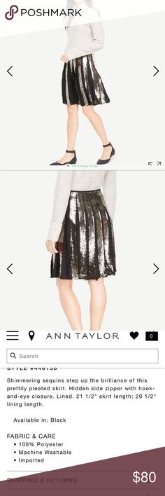 Ann taylor Sequins Full skirt Ann taylor Sequins Full skirt size 10 Ann Taylor Skirts Midi