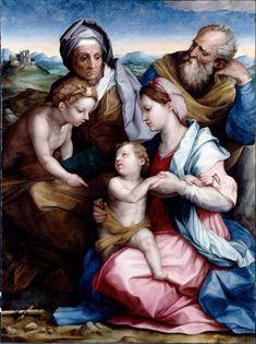 Giorgio Vasari and Andrea del Sarto - Holy Family. Dulwich Picture Gallery London. (via Musei Italiani on Facebook)