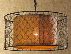Pendant Lighting Chicken Wire Glass