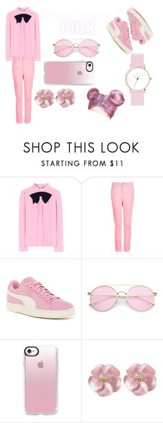 Casual Set #5 by sandstormthenerd on Polyvore featuring Prada, Topshop, Puma, Laruze, Casetify and monochromepink
