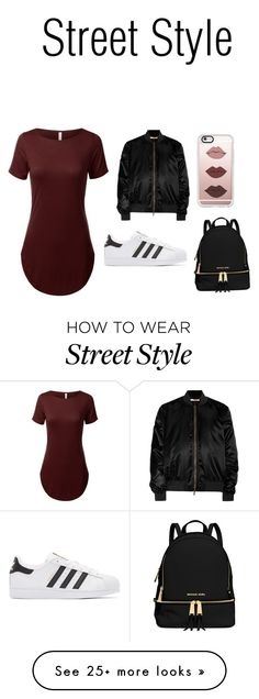 """""""Street Style"""" by rihana460 on Polyvore featuring Givenchy, adidas Originals, Casetify and MICHAEL Michael Kors"""