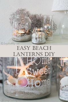 Easy and beautiful Beach Lantern DIY