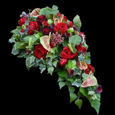 Dek. nagrobne Funeral Flower Arrangements, Funeral Flowers, Cemetery, Floral Wreath, Wreaths, Plants, Decor, Floral Crown, Decoration