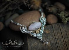 #handmade #necklace #Evgeniya_Gorelova #Swarovski #jewelry
