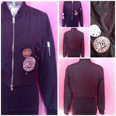 APRIL SPORTSWOMAN BLACK JACKET M NWOT APRIL Sports Woman Black Zip Front Light Weight Jacket M NWOT April Jackets & Coats
