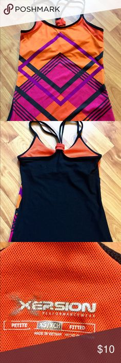 Xersion Workout Tank Top Strappy Workout Tank Top from Xersion/ Target! Great Condition!!! Has a Built-In Shelf Bra. Xersion Tops Tank Tops