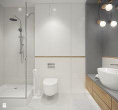 Średnia łazienka w bloku bez okna, styl skandynawski - zdjęcie od SAJE ARCHITEKCI Joanna Morkowska-Saj