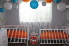 Got two? Check out this twin boy nursery. #twins #nursery
