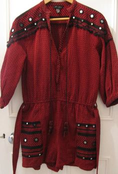f0e9dfc0dd Burgundy Red Embellished Embroidered Playsuit from New Look size 8 EU 36  Boho · Dark RedDresses With SleevesRompersLong SleeveClothes For ...
