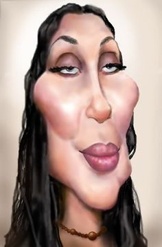 Cher by Dave Torronio ..FOLLOW THIS BOARD FOR GREAT CARICATURES OR ANY OF OUR OTHER CARICATURE BOARDS. WE HAVE A FEW SEPERATED BY THINGS LIKE ACTORS, MUSICIANS, POLITICS. SPORTS AND MORE...CHECK 'EM OUT!!