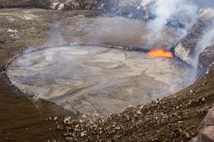 This USGS HVO photo shows a view of the lava lake, from a different perspective, when it was at its highest level.
